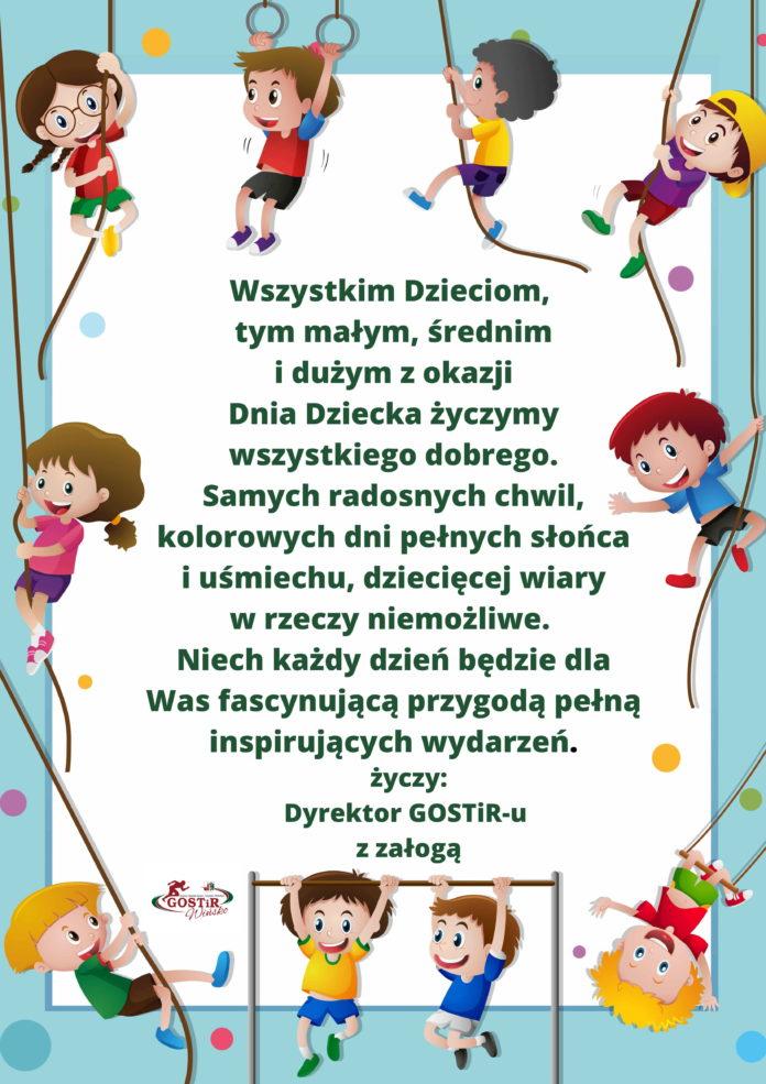 Życzenia dl dzieci z okazji Dnia Dziecka.