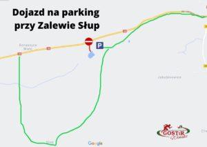 Mapa dojazdu na Zalew Słup