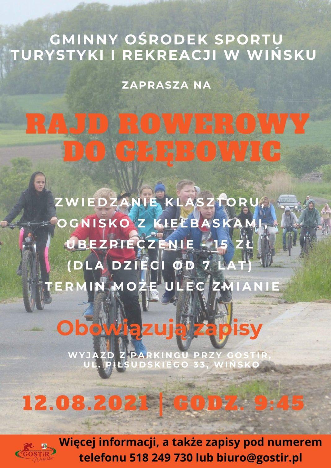 Plakat zapraszający na Rajd Rowerowy do Głębowic