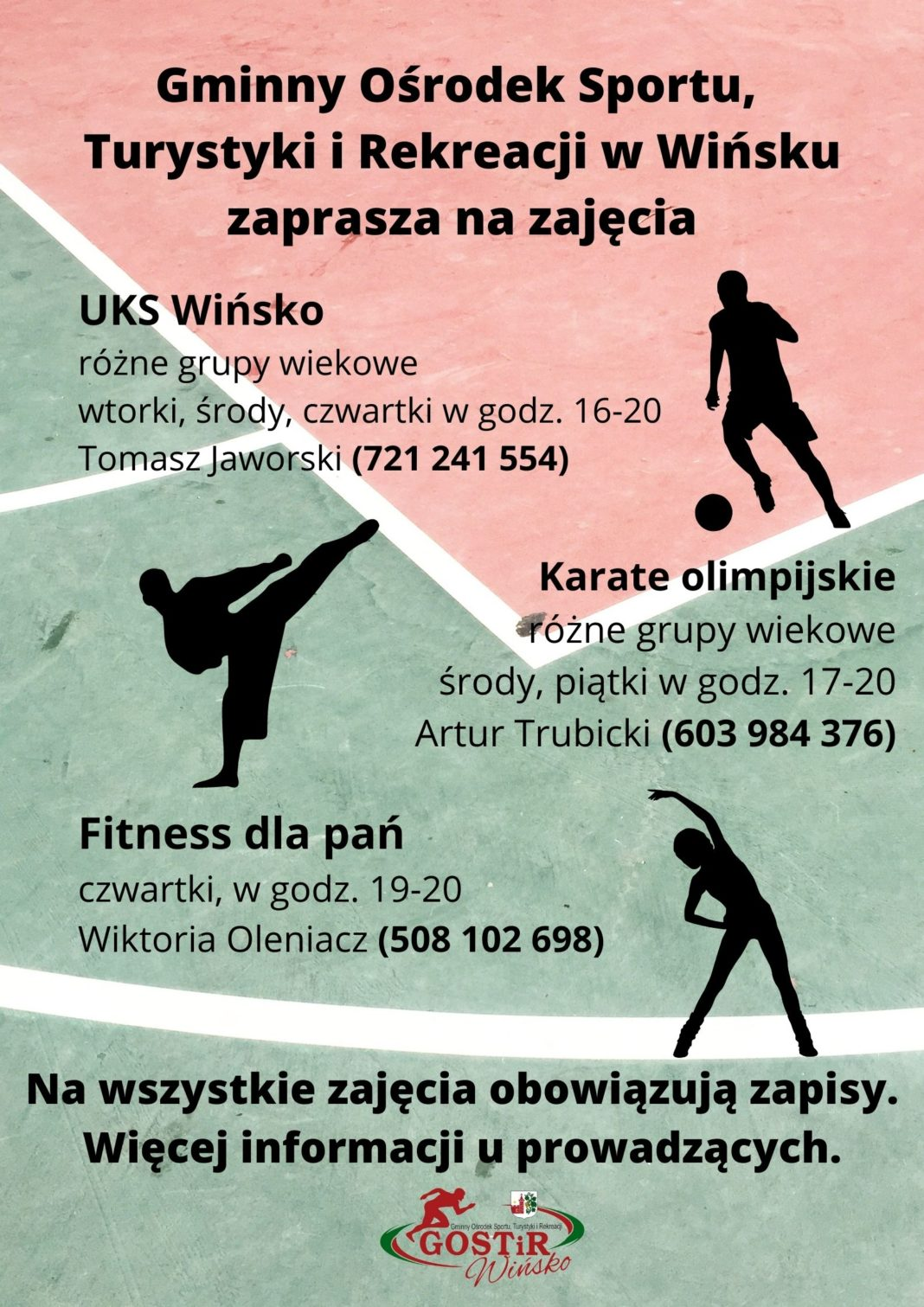 Plakat promujący zajęcia w GOSTirze.